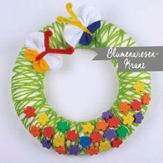 Blumenwiese-Kranz Crochet Necklace, Flower Crochet, Crown Cake, Do Crafts, Game, Crochet Collar