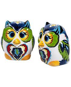 Espana Bocca Figural Owl Salt and Pepper Shakers - Serveware - Dining & Entertaining - Macy's