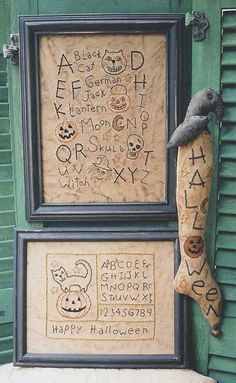 The Country Cupboard Spooky Prim Halloween Stitches Primitive Folk Art Craft Pattern...i need this one so bad!