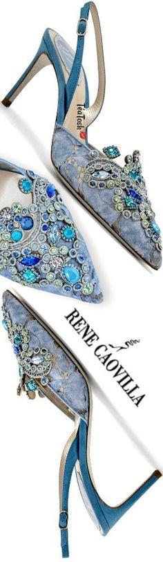 ❈Téa Tosh❈ Rene Caovilla...Bejeweled Slingbacks