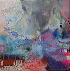 Collage: Acryl auf Leinwand, 40x40cm Käuflich zu erwerben! Custom Art, Collage, Painting, Brush Strokes, Fantasy World, Fireworks, Abstract Art, Surface Finish, Idea Paint