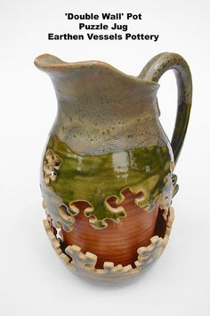 jug by Kevin Wain  combining pottery & puzzle--I like!