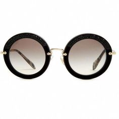 e9c50f4b6af5 Miu Miu Noir round-frame sunglasses ( 295) ❤ liked on Polyvore featuring  accessories