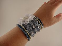 Laced Jean Fabric BRACELET TUTORIAL/ Fabric by FancyTutorials
