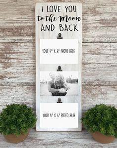 I love you to the moon and back   Christmas gift for Husband   Christmas gift for Boyfriend   Weddin