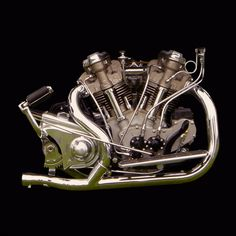 Vintage 1938 Crocker Motorcycle Engine by Gordon Calder Antique Motorcycles, American Motorcycles, Cars And Motorcycles, Mechanical Art, Motorcycle Engine, Motorcycle Posters, Automobile, Old Bikes, Classic Bikes