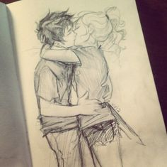 Percy Jackson and Annabeth Chase Fan Art by Fan Art by Viria Percy Jackson Annabeth Chase, Percy And Annabeth, Percy Jackson Fandom, Percabeth, Solangelo, Cute Couple Drawings, Burdge, Rick Riordan Books, Uncle Rick