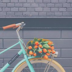 bicycle, bike, blue, chic, classy, colors, floral, flowers, girl, girly, green, hipster, luxury, orange, summer, teen, tropical, tulips, tumblr, vintage