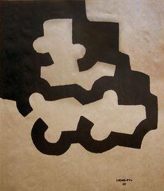 Eduardo CHILLIDA Cuenca Lithographie Kraftpapier 1980 im Druck signiert firmada