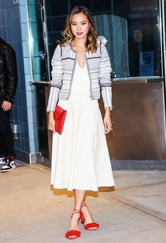 9 Style Secrets to Dressing Like a Celebrity via @WhoWhatWear--Secret #7: Adding a pop of color is the easiest way to stand out