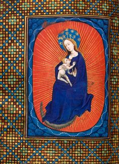 Virgin Mary and Christ Child | Book of Hours | Belgium, perhaps Ghent |  England | ca. 1420 | The Morgan Library & Museum