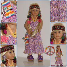 Et la dernière tenue pour Love ma Kidz'N'Cats........Défi hippie. Je me suis bien amusée!!!