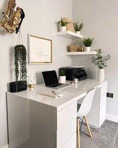 Study Room Decor, Room Ideas Bedroom, Bedroom Decor, Home Office Design, Home Office Decor, Office Desk, Aesthetic Room Decor, My New Room, Home Decor Inspiration