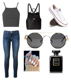 Untitled #52 by jessie2705 on Polyvore featuring polyvore, fashion, style, Topshop, Frame Denim, Converse, Dolce&Gabbana and Chanel
