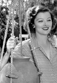 """Myrna Loy... after an extensive letter writing campaign and years of lobbying by screenwriter and then-Writers Guild of America, West board member Michael Russnow, who enlisted the support of Loy's former screen colleagues and friends such as Roddy McDowall, Sidney Sheldon, Harold Russell and many others, she received a 1991 Academy Honorary Award """"for her career achievement"""". She accepted via camera from her New York home, simply stating, """"You've made me very happy. Thank you very much."""""""