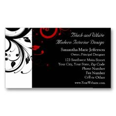 Add a business card to invitations with details not on the invitation like map or directions, times,  RSVP, etc see Black and White with Red Reverse Swirl Business Card