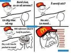 Fac mişto la McDonald's - Cele mai tari poze,bancuri si video de pe net Haha Funny, Funny Texts, Mcdonalds, Fail, Fresh Memes, Love Memes, Grumpy Cat, Funny Pictures, Jokes