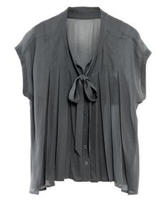 Beatrice Blouse by Wrap I'd pair this with white shorts and nude sandals...