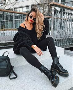 Casual Fall Outfits That Will Make You Look Cool – Fashion, Home decorating Hipster Outfits, Mode Outfits, Casual Outfits, Fashion Outfits, Womens Fashion, Office Outfits, School Outfits, Fall Winter Outfits, Autumn Winter Fashion