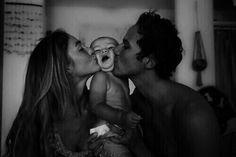 Baby cheek kisses!