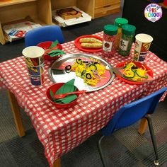Pizza Restaurant Dramatic Play! Students learn math and literacy concepts and skills through play.  https://www.teacherspayteachers.com/Product/Pizza-Dramatic-Play-2265498
