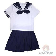 A Certain 5L Sailor Uniform (Hideyoshi Type) ($65) ❤ liked on Polyvore featuring dresses, outfit, skirts and tops