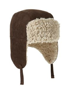 Baby sherpa hat - so cute and ridiculous