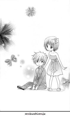 Little misaki and takumi Anime Chibi, Kawaii Anime, Best Romantic Comedy Anime, Usui Takumi, Maid Sama Manga, Chibi Couple, Anime Family, Nisekoi, Kaichou Wa Maid Sama