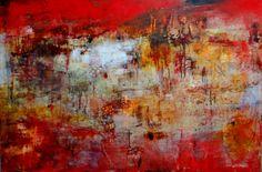 """""""Storia Muro III"""" Oil/Cold wax 30""""x40' Lisa B. Boardwine"""