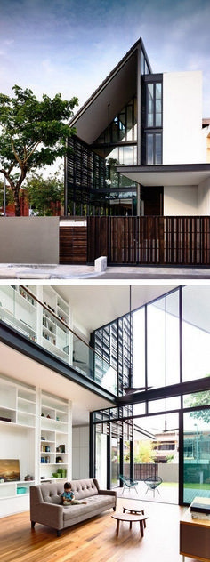 Ideas Home Design Inspiration Architecture Decor Residential Architecture, Amazing Architecture, Contemporary Architecture, Interior Architecture, Contemporary Building, Exterior Design, Interior And Exterior, Home Design Decor, Facade House