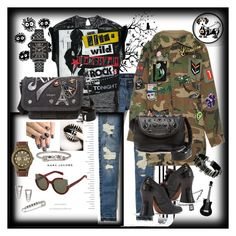 """""""Rockin Marc J."""" by judy78 on Polyvore featuring Marc by Marc Jacobs, Eleanor Stuart, Marc Jacobs, Hollister Co., WeWood and alfa.K"""