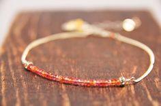 Carnelian Bridesmaid Bracelets Coral by LillyputLaneDesignCo, $52.00