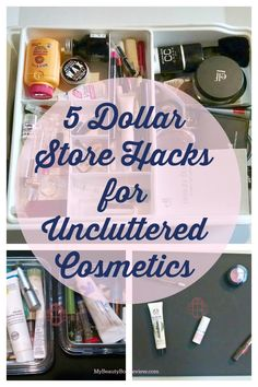 When it comes to makeup organization, I can't get enough creative hacks. You have so many shapes, sizes and products to keep uncluttered you really have the opportunity to incorporate a lot of cool stuff.