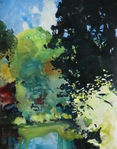 Plein Air Watercolor on the Calapooia, painting by artist Randall David Tipton