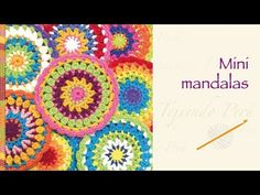 Crochet paso a paso: mini mandalas - YouTube
