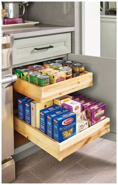 Have a small kitchen? Plenty of storage can help you stay organized and maximiz. Have a small kitchen? Plenty of storage can help you stay organized and maximize your space. Diy Kitchen Storage, Diy Kitchen Decor, Kitchen Furniture, Home Furniture, Kitchen Ideas, Kitchen Organization, Organization Ideas, Furniture Outlet, Design Kitchen