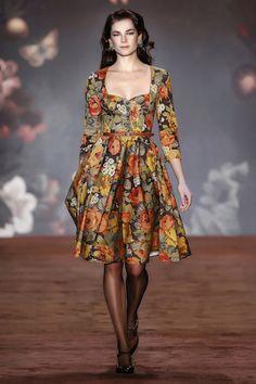 "AW 16/17 ""The Brits"" Runway ""Teatime Dress, autumn rose"""