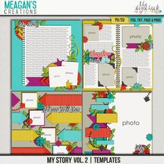 Sometimes your layouts need to tell a story, the whole story. My Story Vol. 2 templates from Meagan's Creations are designed to let you do just that, tell everything.
