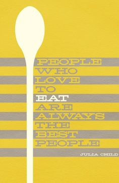 Julia Child is a brilliant kitchen goddess. I'd print this as a poster and frame in the kitchen.