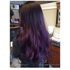 Purple balayage #hair #purplehair