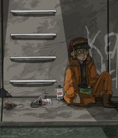 Kenny in the sewer -South Park