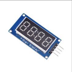 1ピースTM1637 4ビットデジタルledディスプレイモジュールarduinoのため7セグメント0.36インチ時計赤陽極管四シリアルドライバボードパック