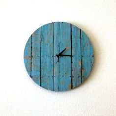 Cottage Chic Clock, Decor and Housewares, Wall Clock, Home and Living, Shabby Chic, Unique Clock,  Unique Gift. $38.00, via Etsy.