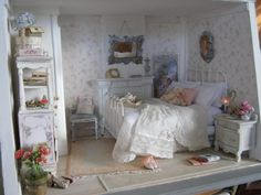 miniature shabby chic bedroom—just inspiration