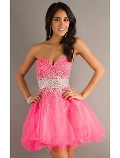 Strapless Beaded Party Dress