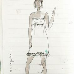 The litttle white dress. . . . #ladytacones #caminaescribedibuja#walkwritedraw #sketchbook #artjournal#moleskineart #nosinmicuaderno  #paperart#watercolorwomanpainting #mixedmedia  #quedanilusiones #inspiring #womenwhodraw #collagecollectiveco #art#fashionillustration #color #design #deco#visualart #instaartist#charme # #芸術ジャーナル  #draw #illustration #bcnart