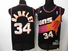 Suns  34 Charles Barkley Black Throwback Embroidered NBA Jersey! 20.50USD fa2732748