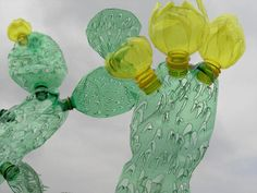 Sculptures Made from Repurposed PET Plastic Bottles by Veronika Richterová