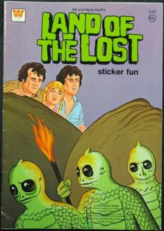 WHITMAN: 1975 Land of the Lost SLEESTAK Sticker Fun Scary Snakes, Book Publishing Companies, Land Of The Lost, Lost Tv Show, Puzzle Books, Tv Land, Cool Stickers, Vintage Toys, Antique Toys