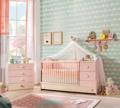 Cilek Baby Girl Kombi Kiságy (75×160 Cm) 20.42.1016.00.2 Cribs, Toddler Bed, Baby, Furniture, Home Decor, Cots, Child Bed, Decoration Home, Bassinet